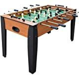 Hathaway 54-Inch Hurricane Foosball Table for Family Game Rooms with Light Cherry Finish, Analog Scoring and Free Accessories