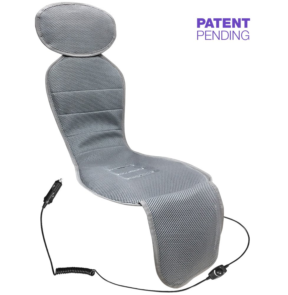 Soonsi Baby Car Seat Cooling Pad Liner with Fan (Gray) Front Facing Car Seat Only
