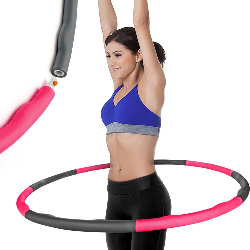 CampTeck 8 Secciones Hula Hoop Fitness