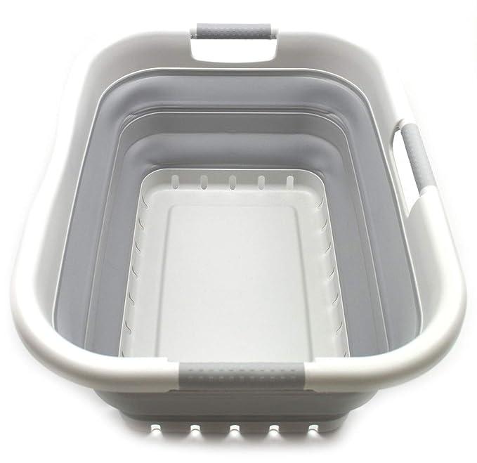 Amazon.com: SAMMART Canasta plegable de plástico para la ...