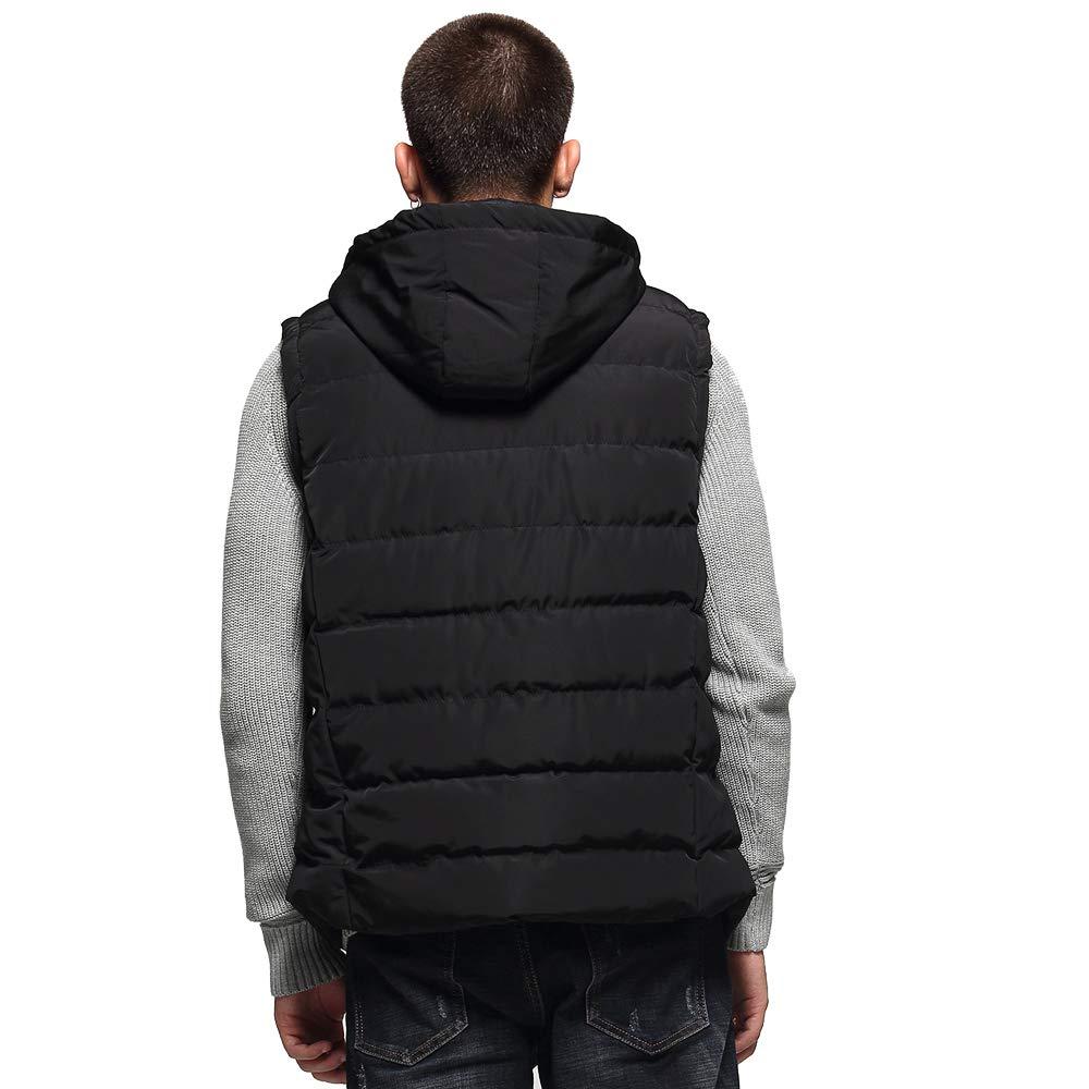 Beuniclo Slim Fit Warm Stylish Mens Active Vest Winter Waistcoat Zip Up Outdoor Vest with Pockets Removable Hood
