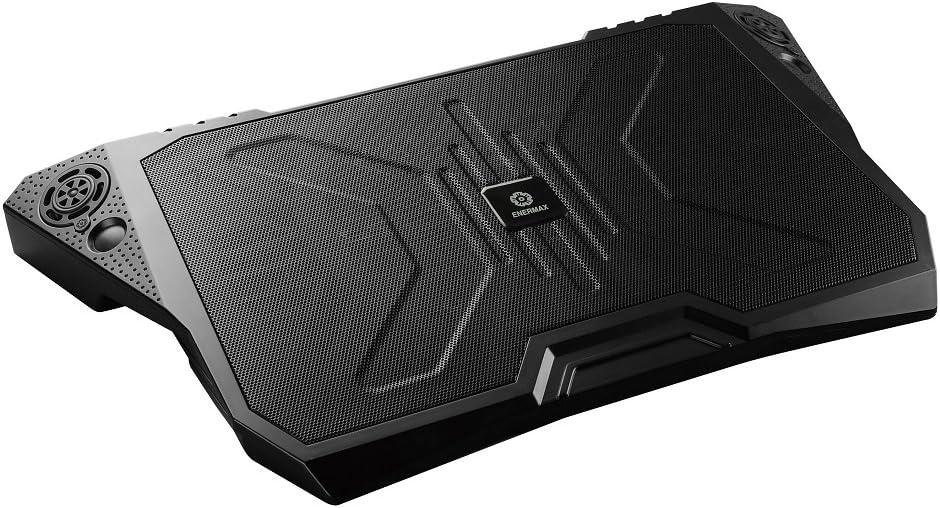 17 Inches Black Enermax CP007 Aeolus Quad Cooling Pad for Notebooks 43.2 cm