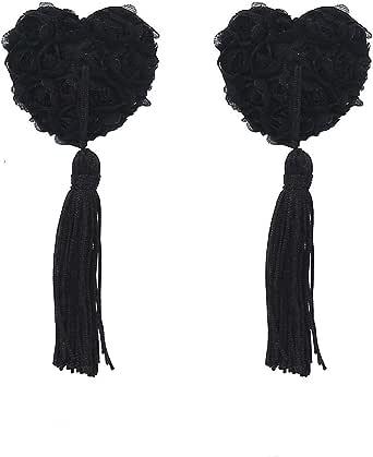حمالة صدر لاصقة ذاتية اللصق من السيليكون بشريط لاصق لحلمة الثدي, أسود, Free Size