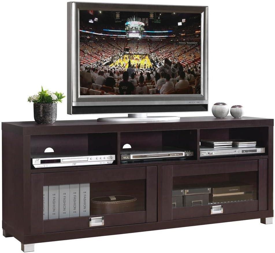 Techni Mobili Durbin TV Cabinet for TVs up to 65 , Espresso