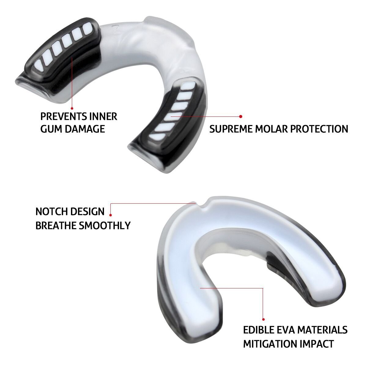 RUNFON Mouthguard/ Vented Case,Adult Gum Shield for Contact Sports Rugby,Boxing,MMA,Hockey,Football,Basketball,Martial Art,Karate,Judo