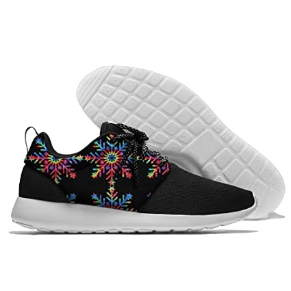Tie Dye Big Snowflakes Christmas Unisex Running Shoes Sport Shoes Walking Shoes Lightweight Sneaker