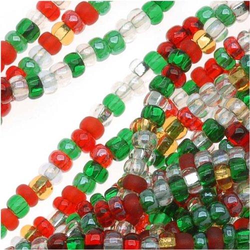 Czech Seed Beads ''Deck The Halls'' Christmas Mix 11/0 (1 Hank/4000 Beads)