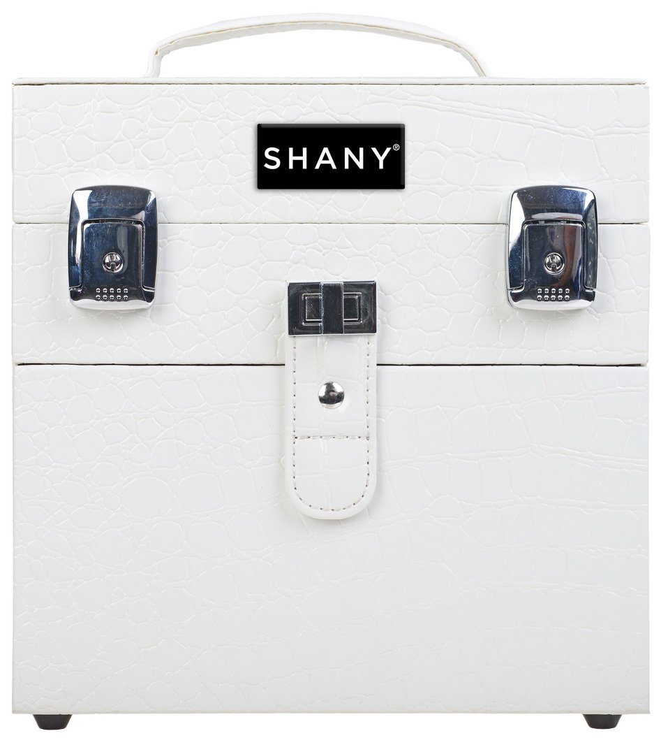 SHANY Color Matters - Nail Accessories Organizer and Makeup Train Case - White Lily SH-CC0024-WH