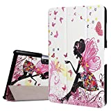 Acer Iconia One 10 B3-A30 DETUOSI ® Cover Case,Soft TPU inner + Luxury PU Leather Outer Case Flip Folio Cover for Acer Iconia One 10 B3-A30 10Inch-Elves Girl