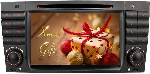 IAUCH Android 9.0 Unidad de Radio para Auto, Soporte GPS, Espejo de Control de Volante, Bluetooth, Manos Libres, A2DP, música, 4G, WiFi, VMCD, Dab, DVD, Radio para Mercedes Benz W203 W209: Amazon.es: