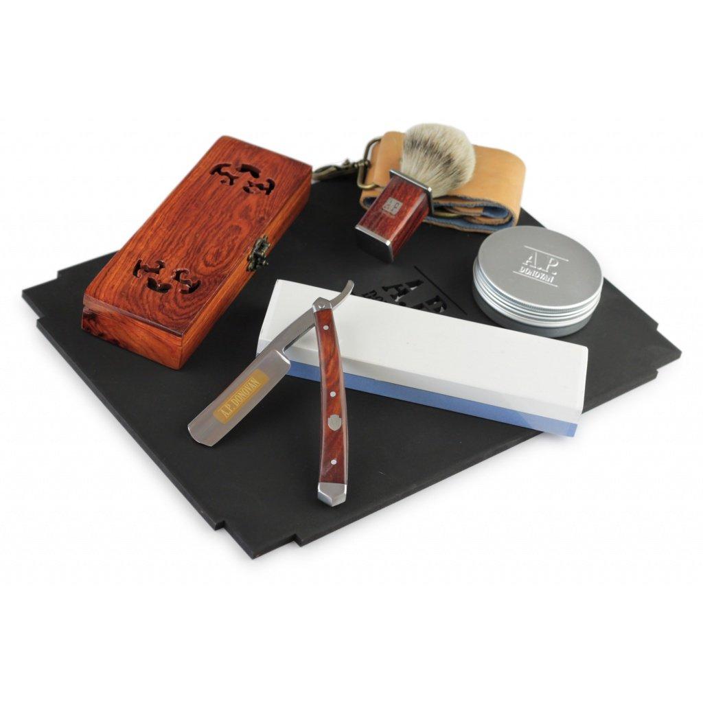 A.P. Donovan - Professional straight razor set 7/8''razor - Whetstone - strop - Shaving - Shaving