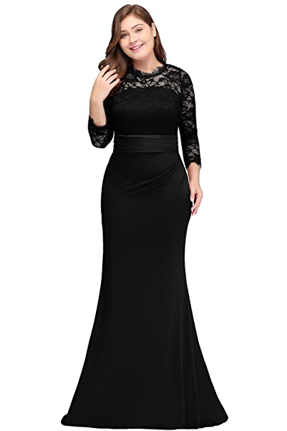 Babyonlinedress Womens Plus Size Long Evening Dresses Mermaid Prom Gown