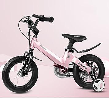 Bicicletas YANFEI Niños Niño Niña con Rueda De Entrenamiento 12 Pulgadas, 14 Pulgadas, 16 Pulgadas, 18 Pulgadas Regalos para Niños Regalo para Niños: ...