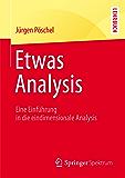 Etwas Analysis: Eine Einführung in die eindimensionale Analysis