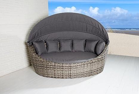 Isola sdraio sevilla ovale vintage marrone sedia a sdraio in