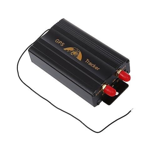 SODIAL(R) 2SIM/GPRS/GPS/GSM Vehiculo Coche Rastreador Real-