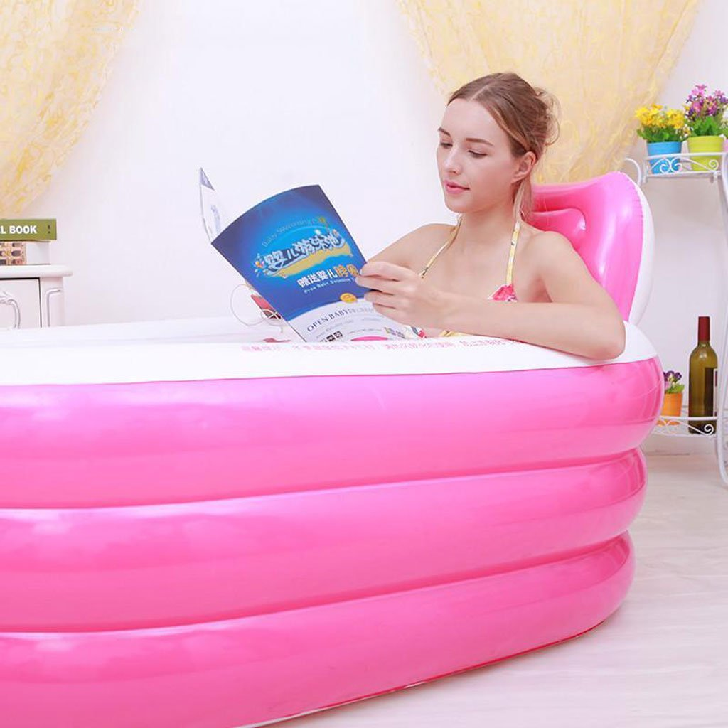 LQQGXL Bad Dicker Eltern Pool Aufblasbare Aufblasbare Aufblasbare Wanne Saunakübel Faltbare Kunststoff Badewanne Wanne Gießen Pumpe Aufblasbare Badewanne (Größe   1508575cm) 61ffde