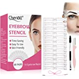 Eyebrow Stencil, Eyebrow Shaper Kit, 12 Styles Extremely Elaborate Reusable Eyebrow Template Stencils for A Range Of…