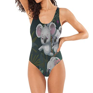 HEOEH - Traje de baño de una Pieza para Mujer con diseño de Koala ...
