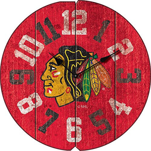 Imperial Officially Licensed NHL Merchandise: Vintage Round Clock, Chicago Blackhawks