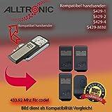 Handsender 433.92 MHz für ALLTRONIK S429-1, S429-2, S429-4, S429-MINI Antriebe