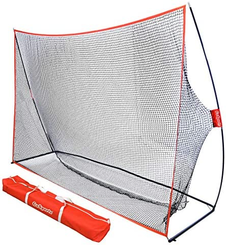 GoSports Golf Practice Hitting Net – Choose Between Huge 10′ x 7′ or 7′ x 7′ Nets -Personal Driving Range for Indoor or Outdoor Use – Designed by Golfers for Golfers