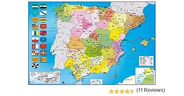 Grupo Erik Editores Mapa España Politico Hfe - Poster, 61 x 91.5 ...
