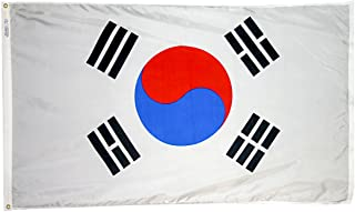 product image for Annin Flagmakers Model 197606 South Korea Flag 3x5 ft. Nylon SolarGuard Nyl-Glo 100% Made in USA to Official United Nations Design Specifications.