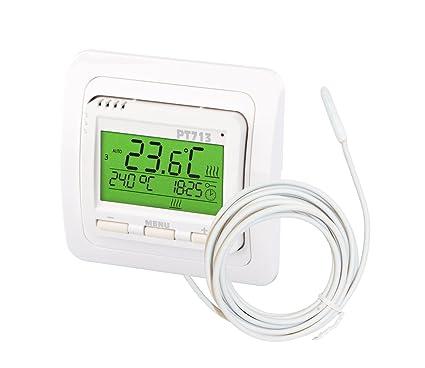 Elektrobock PT713 EI - Termostato de ambiente digital para calefacción por suelo radiante,