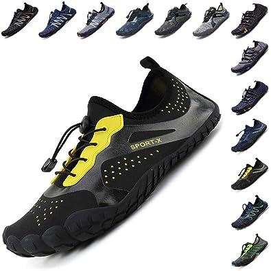 984c34172 Mens Womens Water Shoes Barefoot Beach Quick-Dry Aqua Socks for Swim Surf  Yoga Snorkeling