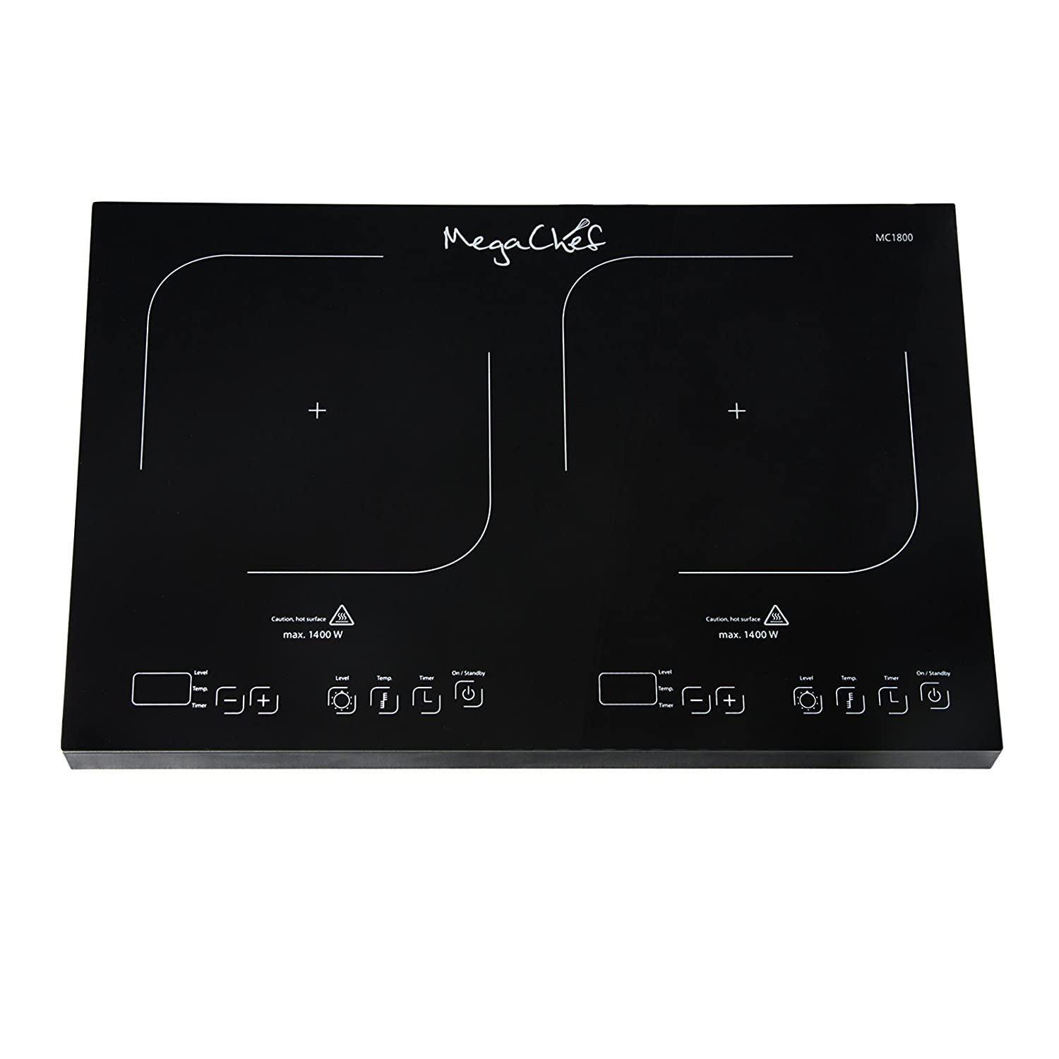 MegaChef MC1800 Portable Dual Burner Powersharing Induction Cooktop