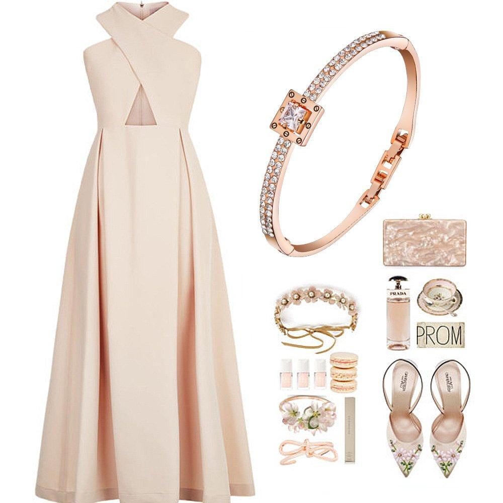 Menton Ezil Princess Crystal Bracelet Rose Gold Luxury Jewelry Adjustable Bangle Bracelets for Womens Girls Wife Anniversary Fashion Collections Loves Design by Menton Ezil (Image #8)