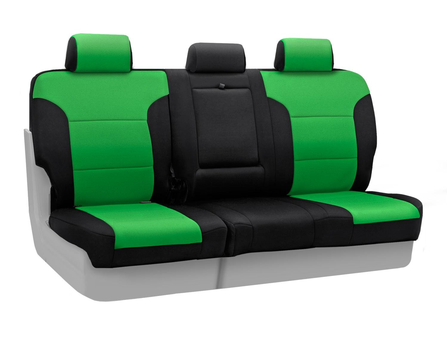 Charcoal with Black Sides Coverking Custom Fit Rear Solid Bench Seat Cover for Select Ram 1500 Models Neoprene