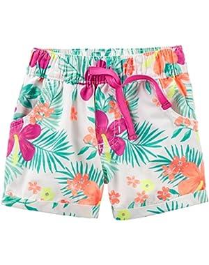 Carter's Baby Girls Print Woven Shorts