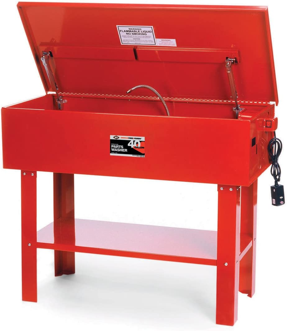 American Forge AFF 31350B Parts Washer 7 Gallon Portable, 18-1//2 Length x 13-1//2 Width x 9 Height