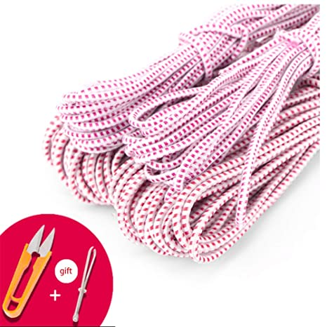79 Inches Chinese Jump Rope Red and Green Chinese Jump Rope Stretch Rope Elastic Fitness Jump Game for Popular Outdoor Exercise