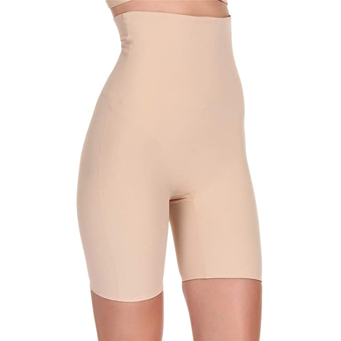 6234ef52a1 Fianmy Women s Shapewear High Waist Seamless Body Shaper Thigh Slimmer  Tummy Control Butt Lifter Panties Beige
