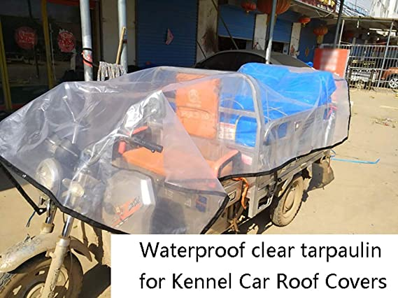 Size : 3x6M YXX Clear Tarp Sheet Cover with Eyelets Large Waterproof Heavy Duty Tarpaulin for Truck Garden Flower Plant Greenhouse Barn