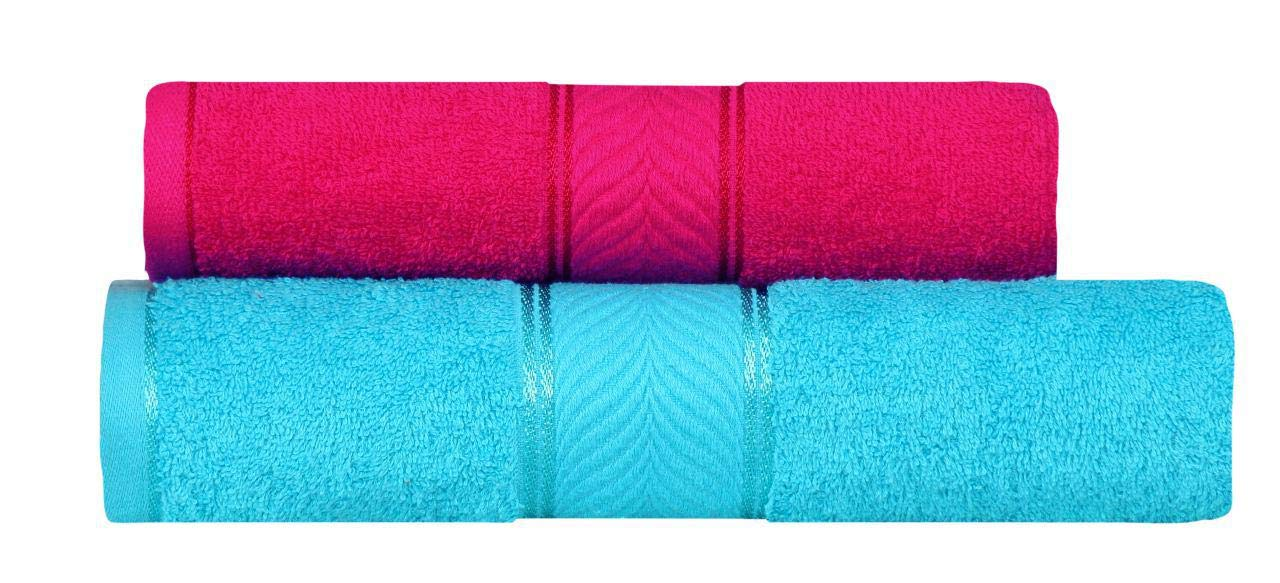 DIVINE OVERSEAS Elegance 100% Cotton/Soft/Highly Absorbent / 450 GSM / (Pack of 2 Couple Bath Towel Set, Romantic Fuchsia & Pleasant Sky) (B07P3ZTN2H) Amazon Price History, Amazon Price Tracker