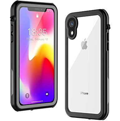 hot sale online 0f505 f457e iPhone XR Waterproof Case,Waterproof Shockproof Dirtproof Full Body  Protective Cover with Built-in Screen Protector Underwater Case for Apple  iPhone ...