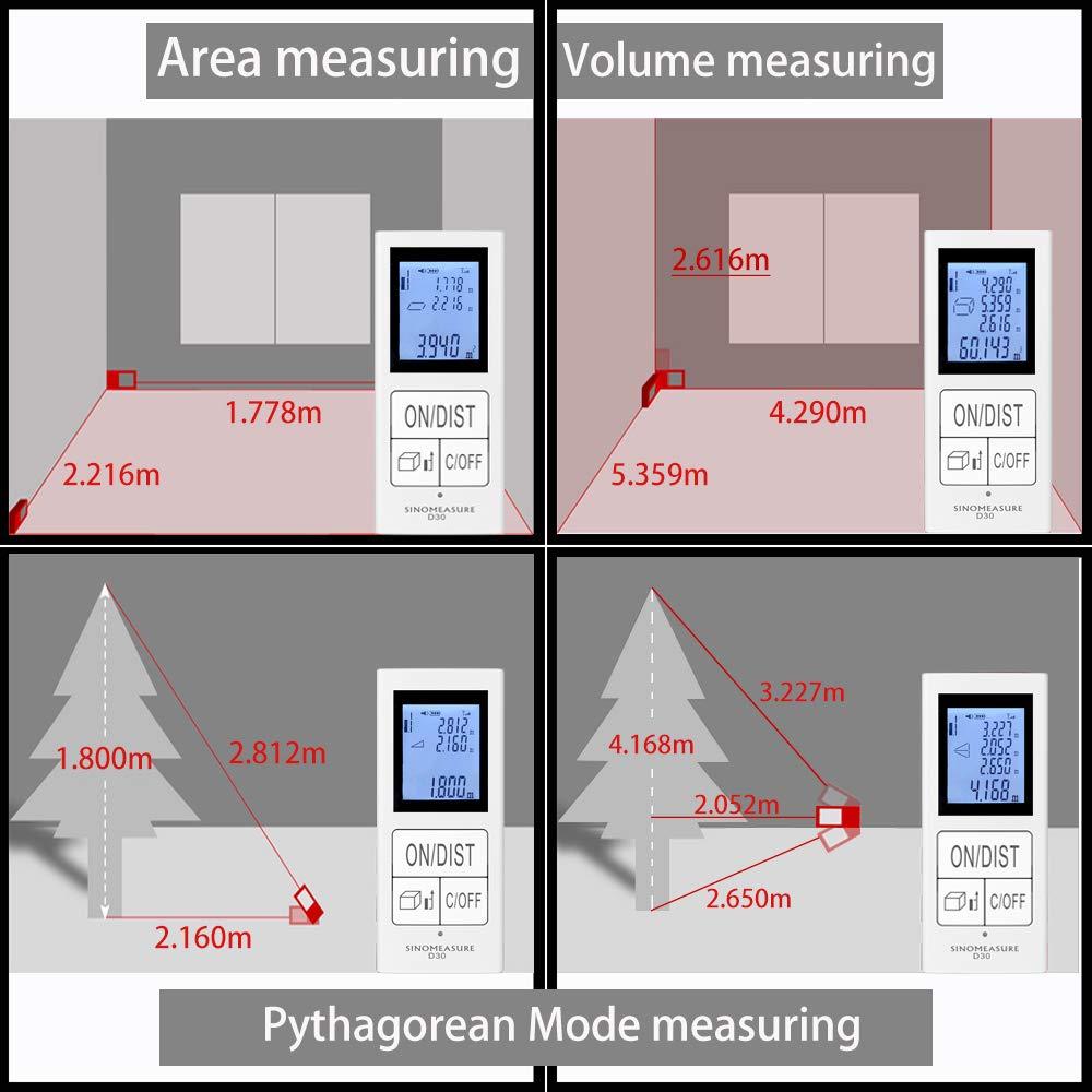 Mini Digital Rechargeable Laser Measure 98FT//30M