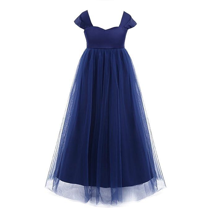 Freebily Vestido Largo de Boda Buatizo para Niña Bebé (12 Meses a 14 Años)