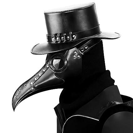 Steampunk Peste Doctor Pájaro Máscara Nariz Larga Pico Cosplay Punk Halloween Traje Atrezzo Fantasma De La