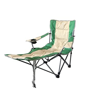 Outdoor Folding Chairs With Footrest Padded Lounge Chair Camping Chairs  Reclining Heavy Duty Adjustable For Camping