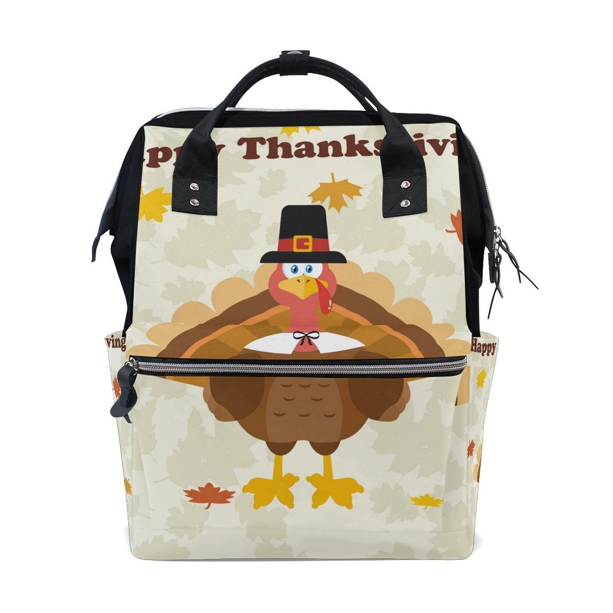 JSTeLノートパソコンカレッジバッグ学生旅行感謝祭トルコ鳥学校バックパックショルダートートバッグ   B078N4RV8R
