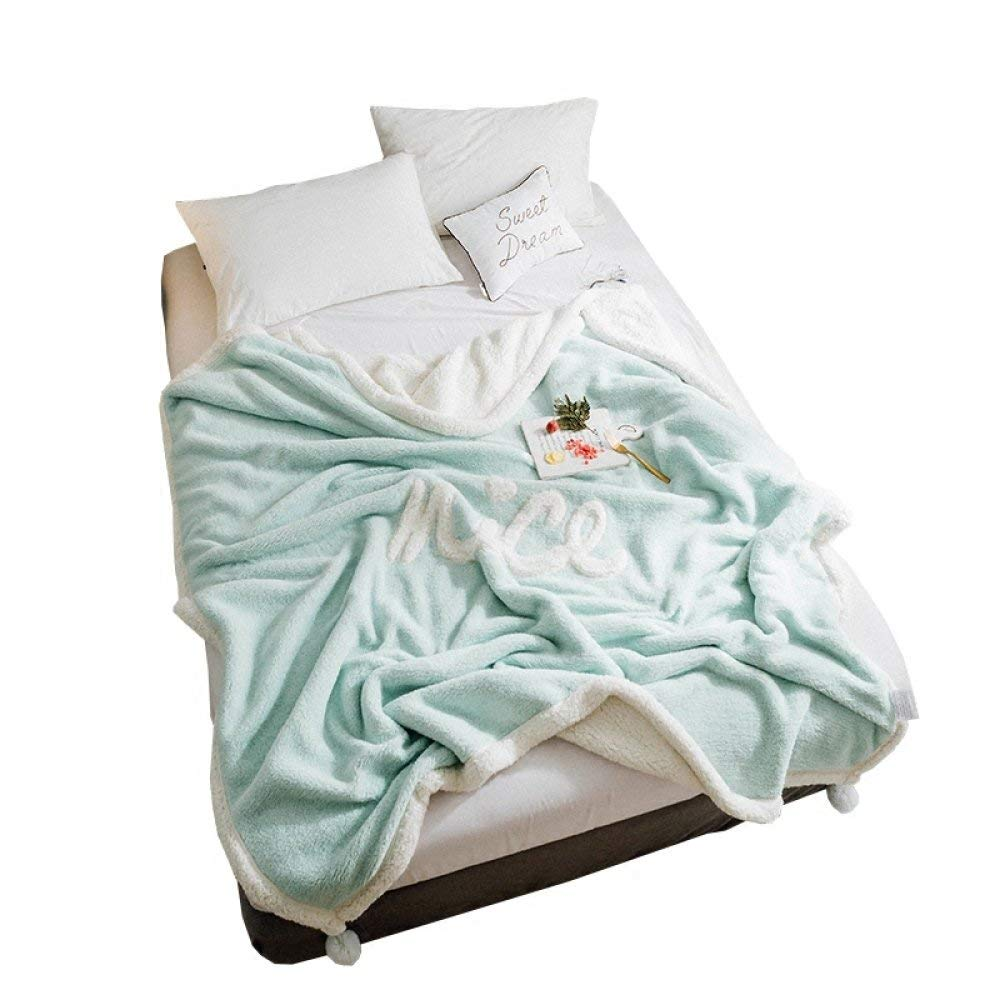Mabmeiyang 王女風厚い冬暖かいシングル学生寮blketダブルラムblketダブルblket (Color : 緑, サイズ : 200*230cm) B07S3F86Z1 緑 200*230cm
