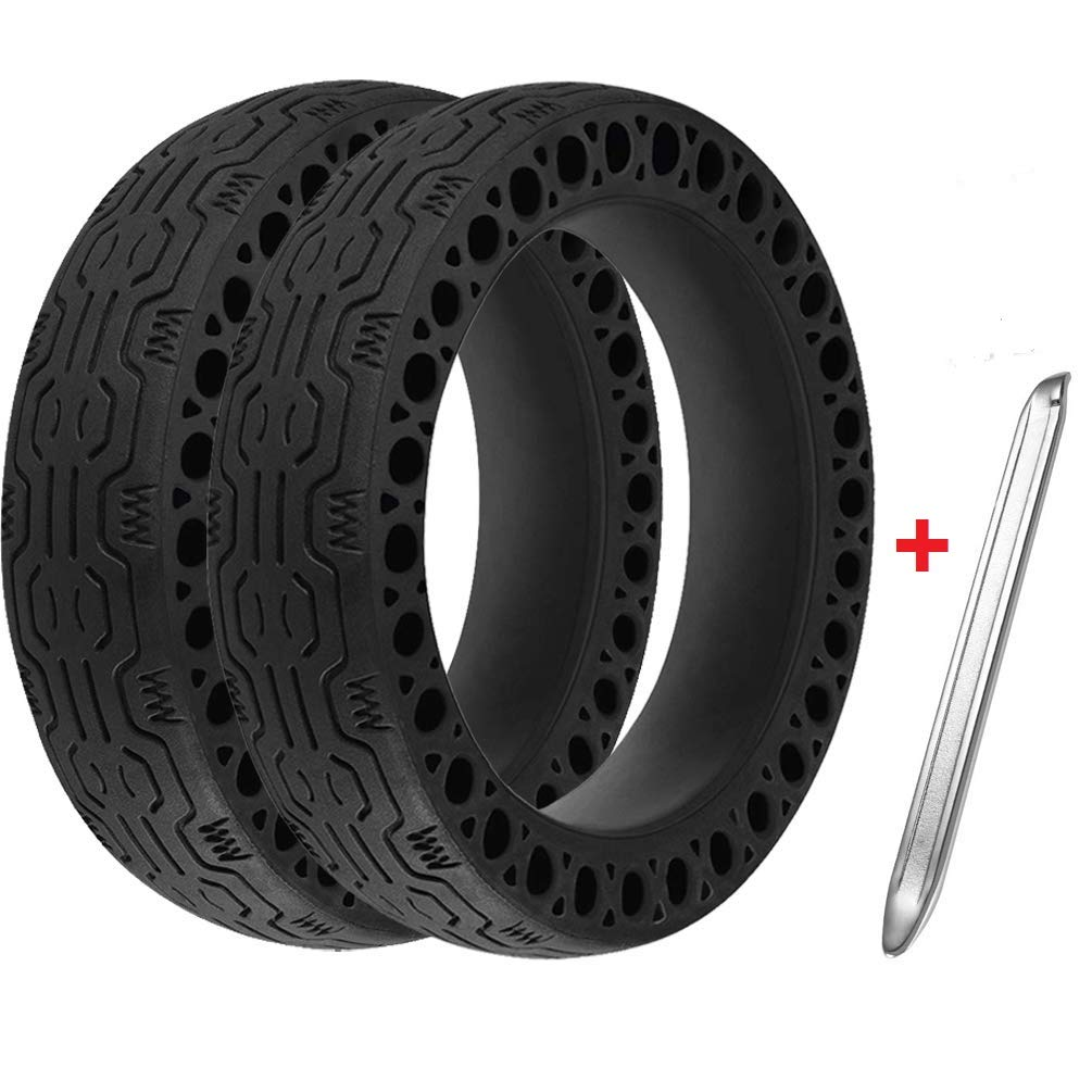 Imjoyful 8.5-Inch Anti-Explosion Solid Tires for Xiaomi Mijia M365 Electric Scooter Wheel's Replacement Part Accessory (Pair)