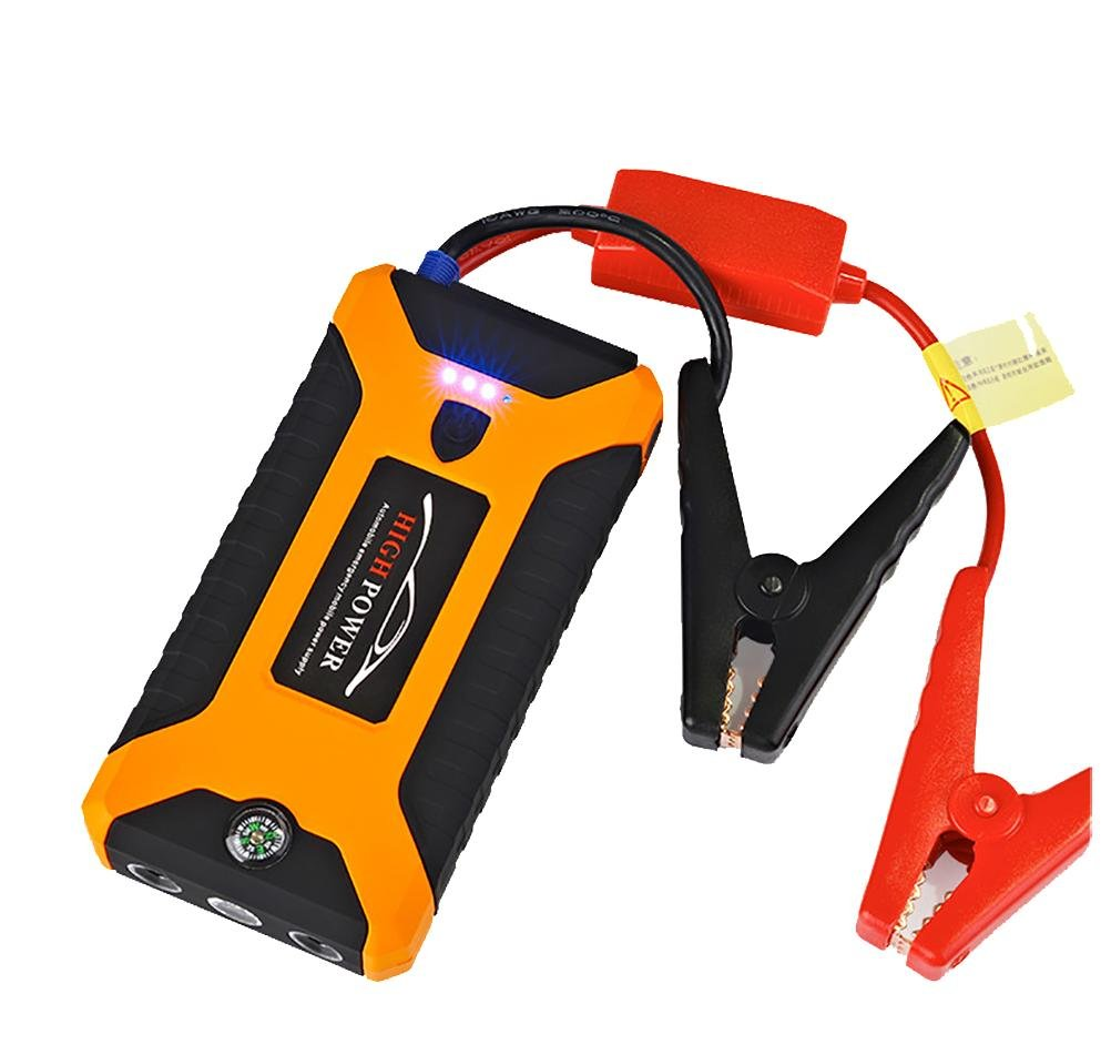 QINUO Portable Car Jump Starter, Battery Booster Pack and Power Supply, LED Flashlight and USB & Laptop Charging.