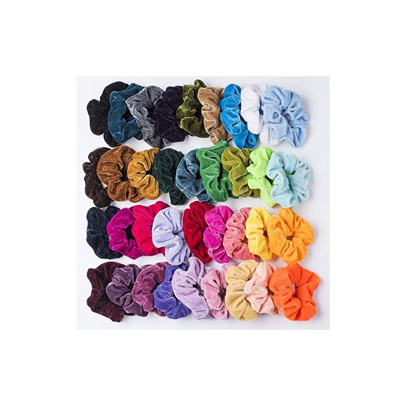 36-pcs-premium-velvet-hair-scrunchies