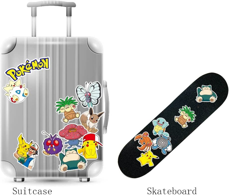 Skateboard Notebook Pokemon Aufkleber//Sticker f/ür Auto Laptop o./ä 39 St/ück TopschnaeppchenDSH Sticker Mix ca